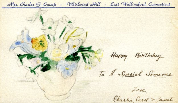 Birthday Card, Janet Hall Crump, 1946