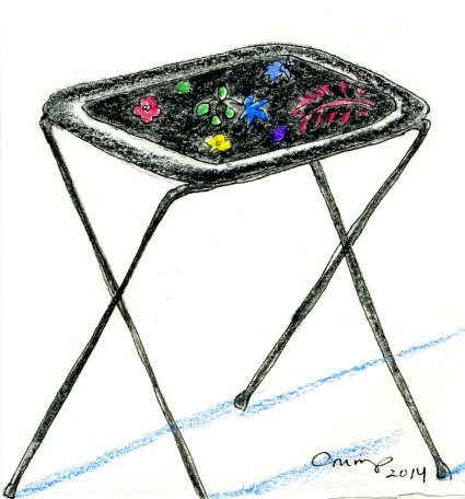 """TV Tray Table,"" Carol Crump Bryner, 2014"
