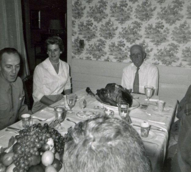 Thanksgiving, 1960, Charles Crump, Janet Crump, Ellsworth Hall
