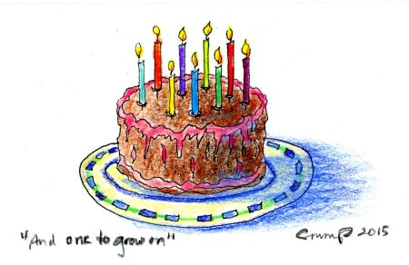 """And One to Grown on - A Birthday Cake for Henry,"" Carol Crump Bryner, 2015"