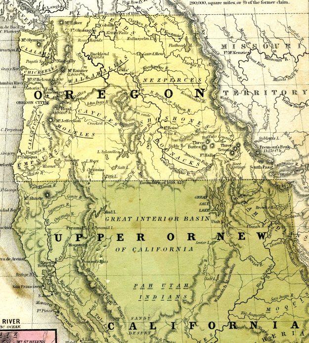 1848 Map of West Coast