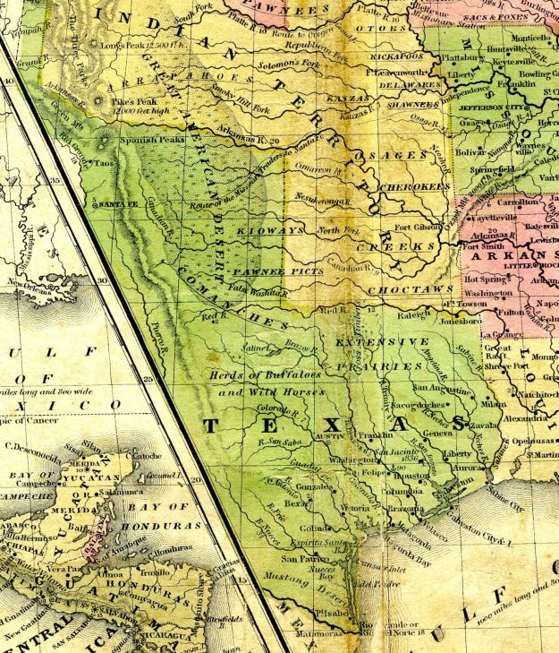 1848 Map of Texas