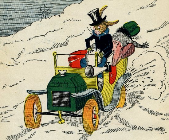 "From ""Uncle Wiggly's Auto Sled,"" written by Howard R. Garis, Illustrated by Lang Campbell, 1920"