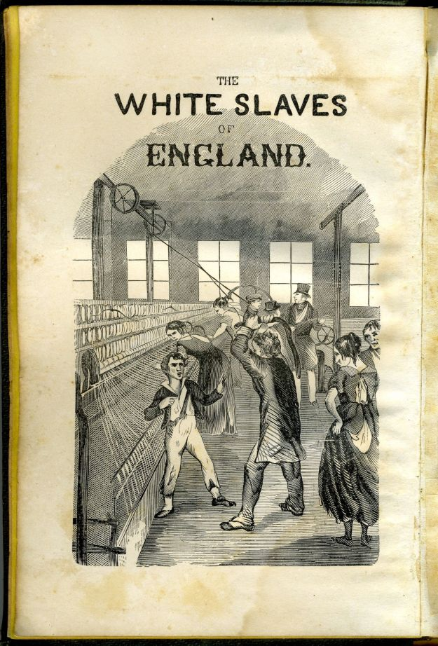 "Page from ""The White Slaves of England"""