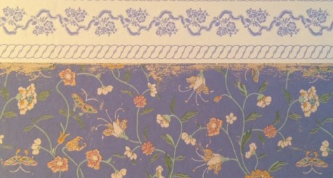 The Laura Ashley wallpaper I love, but really should replace.