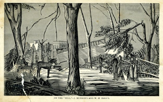 """On the Hill,"" illustration from ""History of the Wallingford Disaster"""