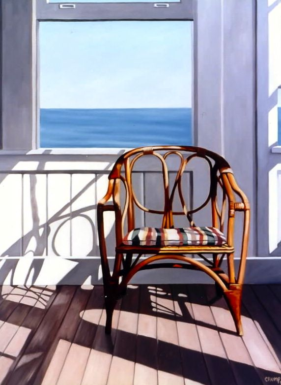 """Ocean House #2,"" Carol Crump Bryner, oil on canvas, 1999"