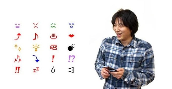 Shigetaka Kurita, japonês criador dos emojis, e parte dos primeiros ícones que criou