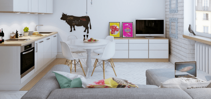 Arredare piccoli spazi giocando con i colori 25 mq