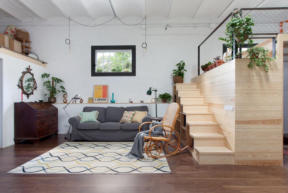 Un garage di 60 mq trasformato in un loft  Casait
