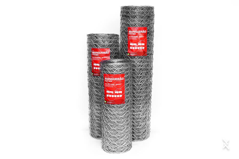 Imagem de rolos de tela hexagonal mangueirão