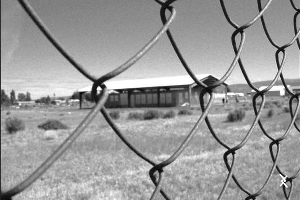 Imagem de uma cerca feita com tela alambrado simples torção do inicio do século XX