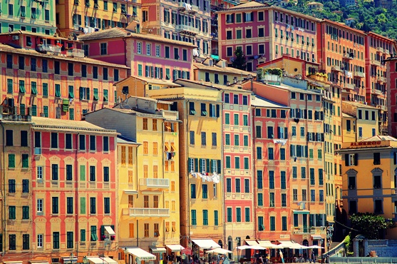 rendita catastale vista palazzi a Camogli