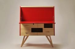 La Quercia 21: Pinocchio, scrivania a ribalta con cassettiera
