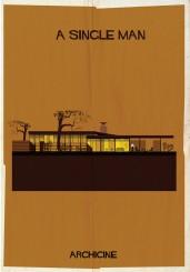 Il poster di Federico Babina per il film A single Man di Tom Ford