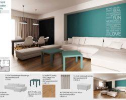 progetto dell'architetto greco Maria Bosgana salone