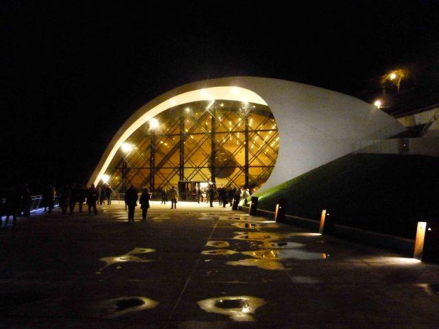 l'architetto brasiliano Oscar Niemeyer l'Auditorium di Ravello