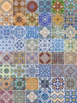 come accostare pavimenti diversi : un tappeto fatto di piastrelle di ceramica