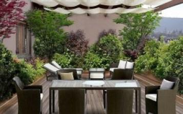come arredare il terrazzo: zona pasti e relax