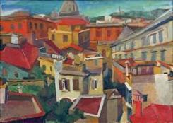 Quadro di Renato Guttuso, Paesaggio urbano