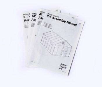 casa pieghevole di Ikea, manuale di assemblaggio