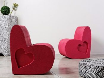 poltrone a forma di cuore Love di Be Different