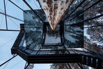 La casa sull'albero 7th Room di Snøhetta - Vista dal basso