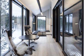 La casa sull'albero 7th Room di Snøhetta - Gli interni