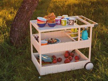 carrello portavivande per esterni, complemento a barbecue e cucine per esterni