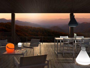 illuminare e arredare un piccolo balcone con lampada sopportabile Roaming