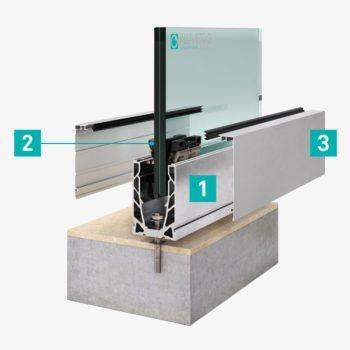 Balaustre in vetro per balconi terrazzi scale FOTO sistema di fissaggio balaustra Garda di Aluvetro