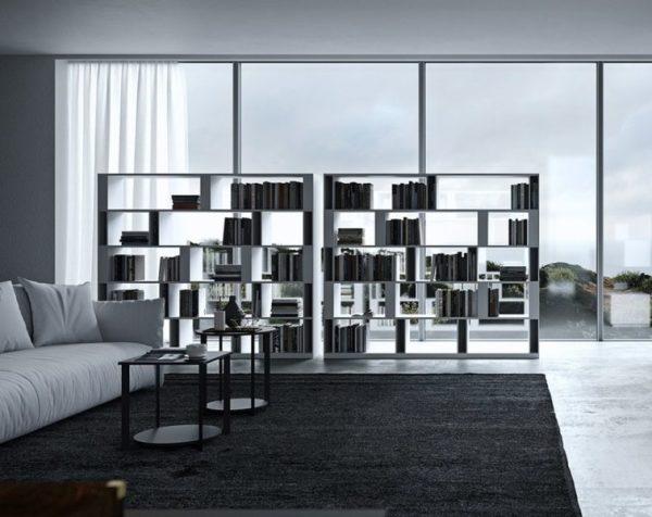 Librerie e mobili bifacciali per suddividere open space FOTO Libreria bifacciale Brera