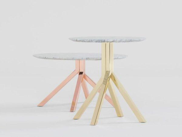 Tavoli in marmo e metallo Grapevine di Billiani