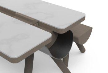 Fuorisalone Milano Design Week 2018 Refin e LightsOn al Fuorisalone tavolo con panca