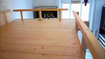 letto matrimoniale a soppalco in legno