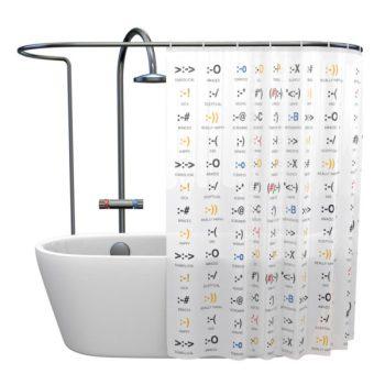 Tenda per la doccia con emoticon getDigital