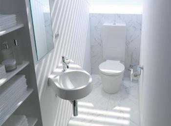 piccolo bagno per ospiti: Mini bagno Duravit