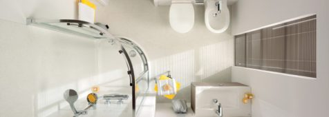 piccolo bagno per ospiti: Mini bagno Ideal Standard