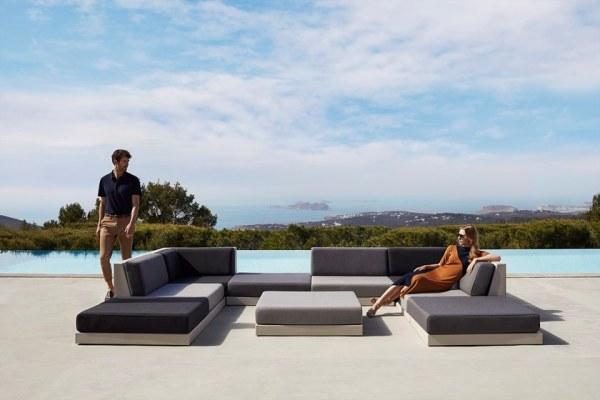 divano per terrazze e giardino Pixel di Vondom