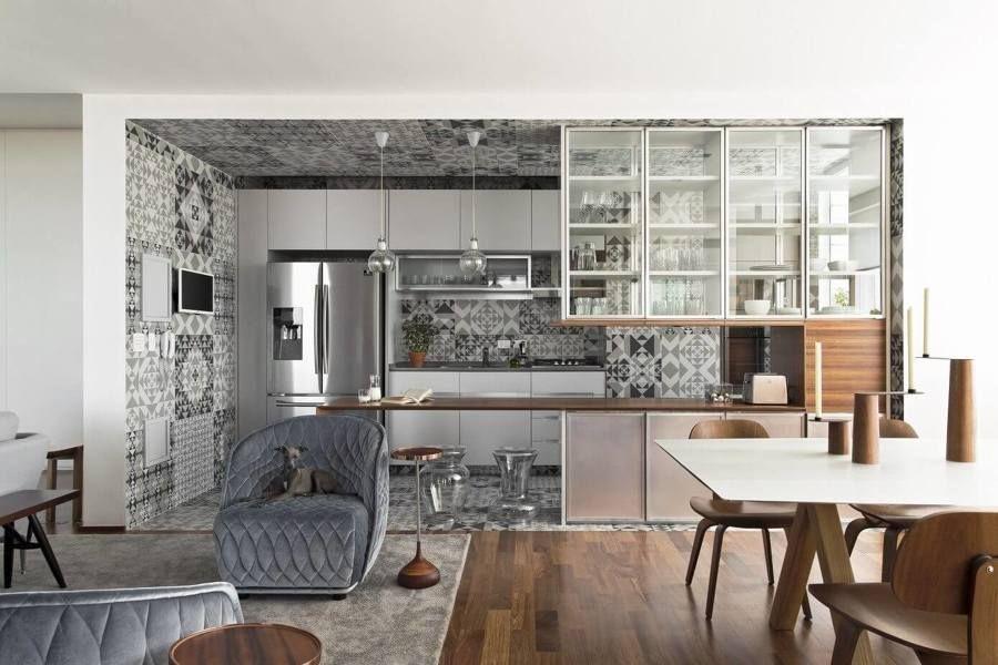 , corte esclusiva e garage al piano seminterrato, int. Soggiorno Con Cucina A Vista Blog Casaomnia