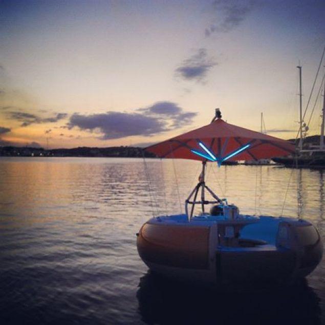 amanecer en el puerto de mahon