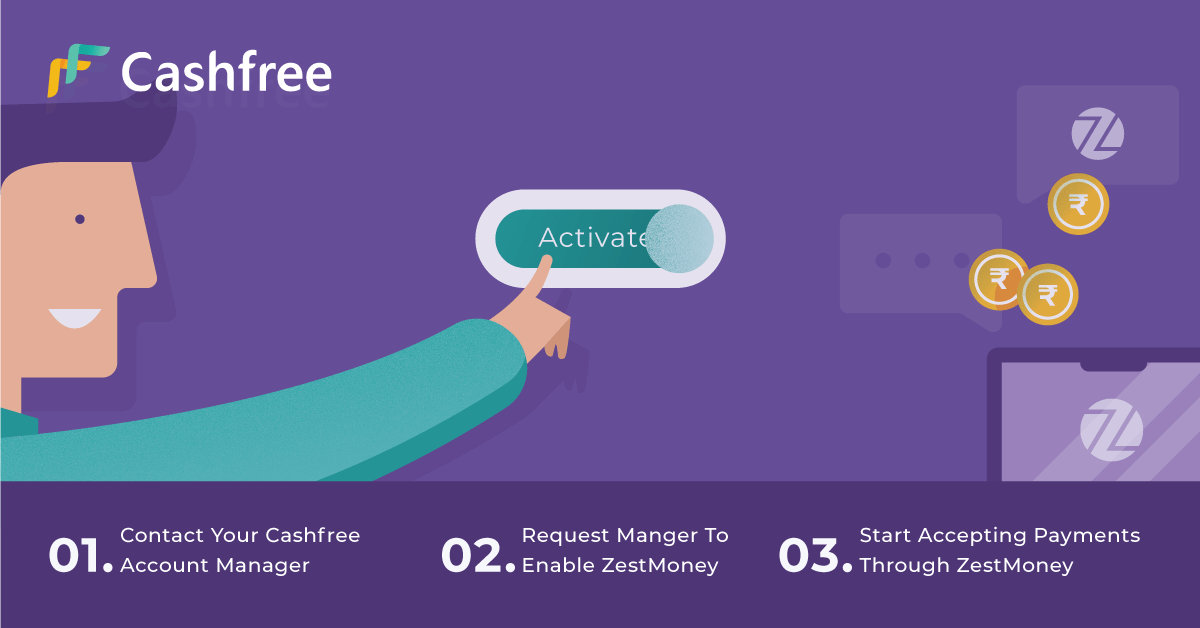 Accept 0% EMI Payments with ZestMoney and Cashfree