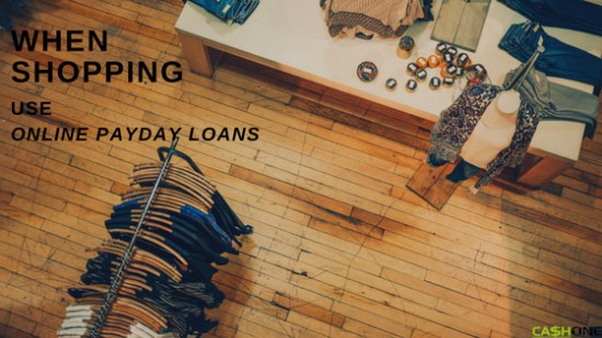 When shopping use online payday loans