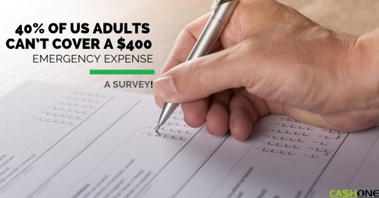 US Adults Can't Cover a $400 Emergency Expense