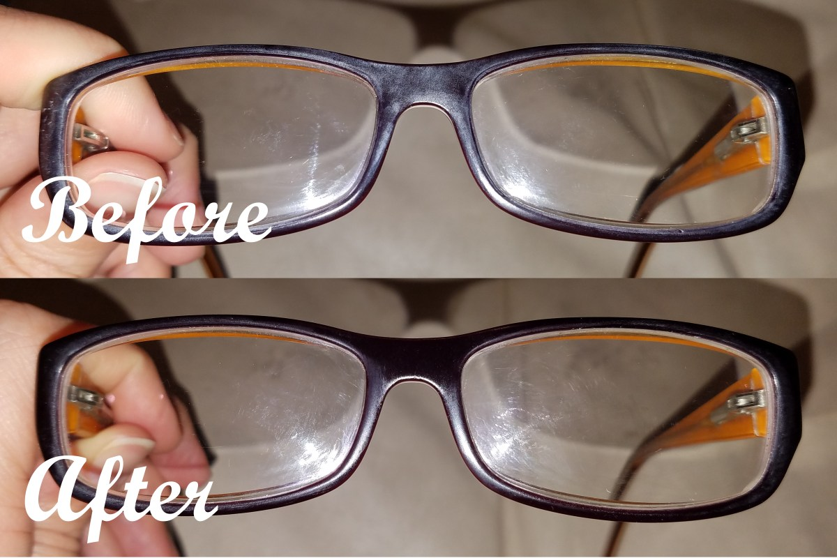 Removing white oxidation from plastic eyeglasses – Condensed