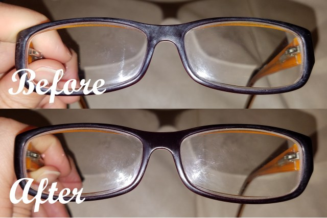 Removing white oxidation from eyeglass frames