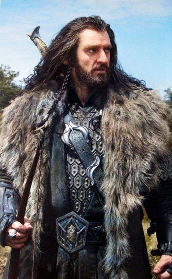 Thorin looking angstily into the distance