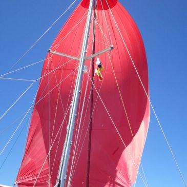 Taoumé navigue… avec ses nouvelles voiles!