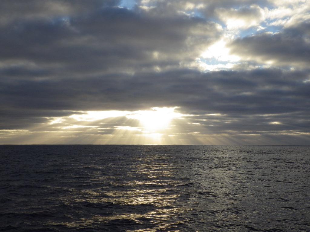 Coucher de soleil à l'approche de Sao Nicaolau