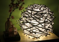 {DIY} How To Make A Bird's Nest Lamp Shade Out of ...